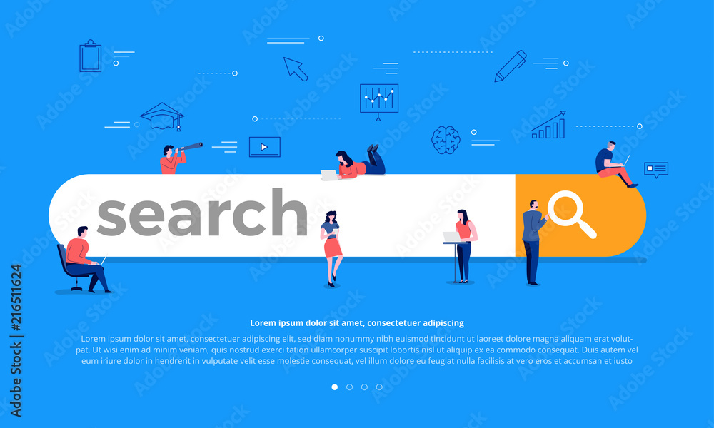 Fototapeta Search engine concept