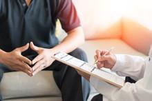Urologist Doctor Giving Consul...