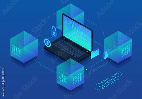 Photo COncept Blockchain Technology