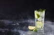 Delicious mojito with lime and mint
