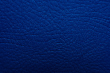 Blue Leather Texture Background Surface