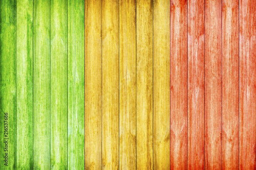Valokuva  Wooden Background with Reggae color