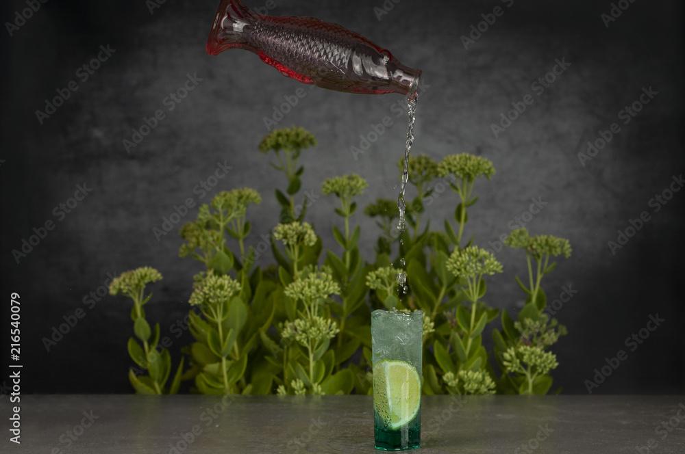 Fototapeta podwodny drink