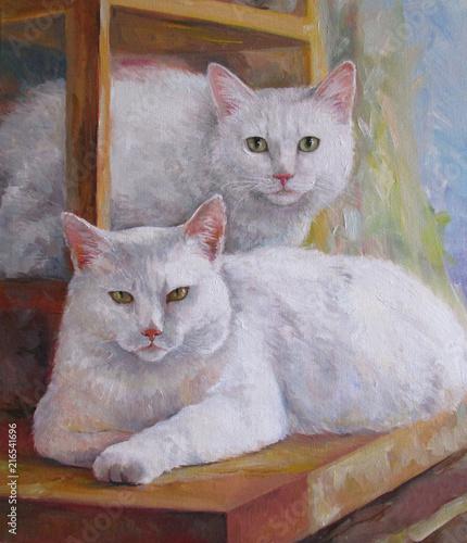 Kotka-mama i kot-córka