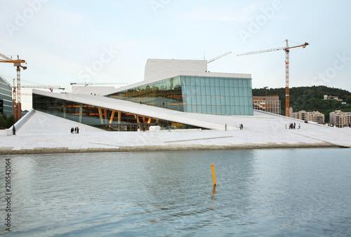 Fotobehang Theater Operahuset - Opera house in Oslo. Norway