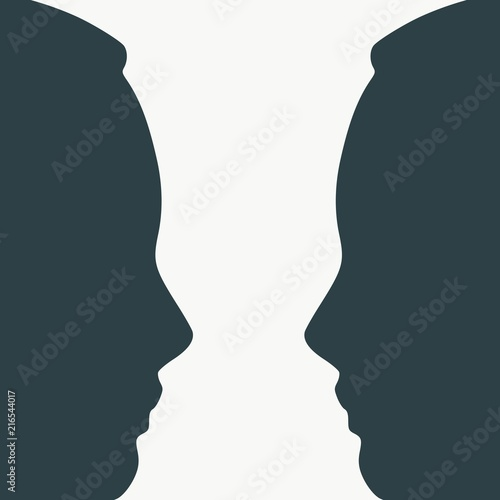 A Vase Or Two Face Profile View Optical Illusion Human Head Make