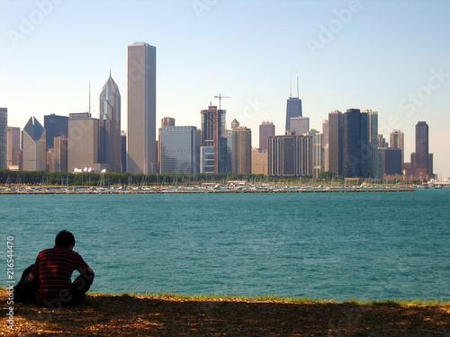 Foto op Plexiglas Chicago Chicago Skyline