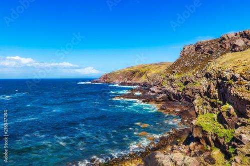Tuinposter Centraal-Amerika Landen Coastline at the Stoer Lighthouse