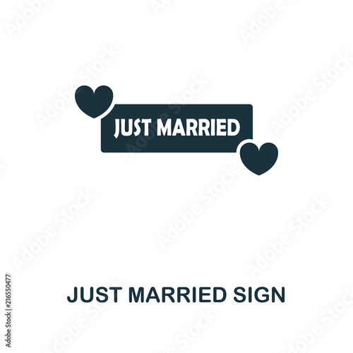 Fotografie, Obraz  Just Married Sign creative icon