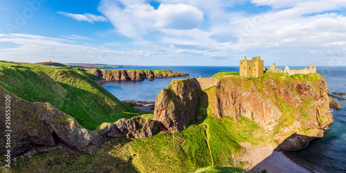 Dunnottar Castle at the scottish coast near Stonehaven Canvas Print