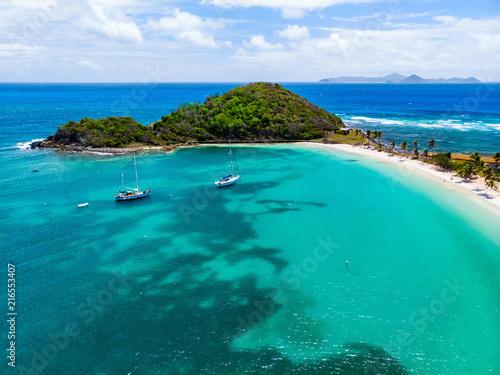 Valokuva  Top view of Caribbean island
