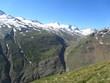 Ötztal with glacier austria