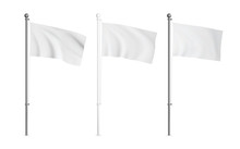 White And Metallic Wawing Flag...