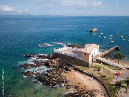 Aerial view of the Fort of Santa Maria in Salvador Bahia