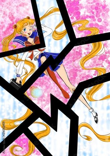 Fotografie, Obraz  Sailor Moon & Usagi Tsukino