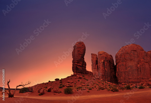Fotobehang Aubergine The Thumb in Monument Valley Tribal Park, Utah, USA