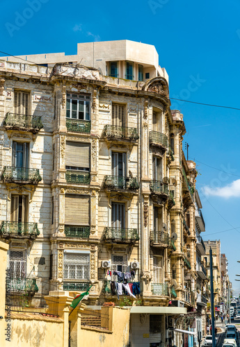 Poster Algérie Buildings in Oran, a major city in Algeria