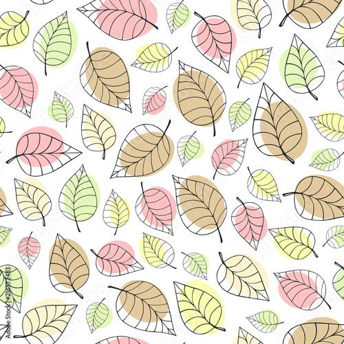 spadajace-jesienne-liscie-recznie-rysowane-lisci-dzieciecy-wzor