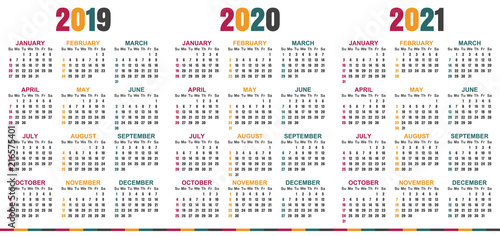 english planning calendar 2019 2021 week starts on sunday simple calendar template for