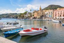 Boats At Marina Corta In Lipar...