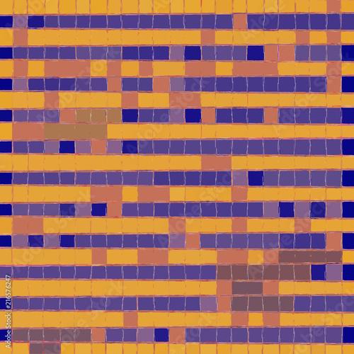 Fotografie, Obraz  orange and violet skew square continuous pattern