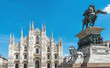 Milan Cathedral and monument to Victor Emmanuel II