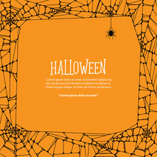 Halloween Square Frame Black C...