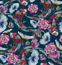 Seamless Pattern With Carp, An...