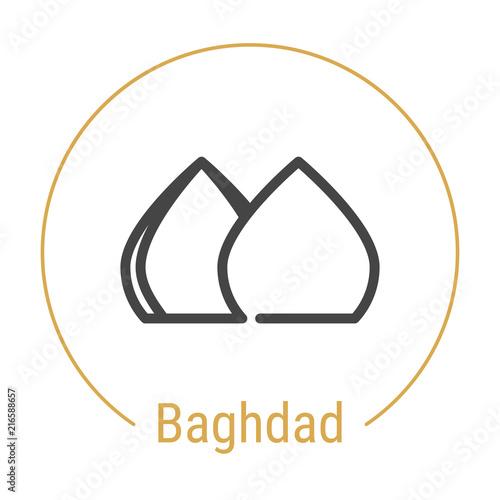 Valokuva  Baghdad, Iraq Vector Line Icon