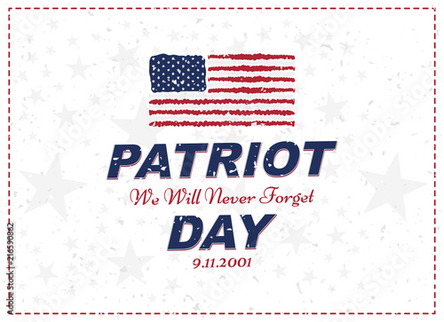 Poster  Patriot Day september 11