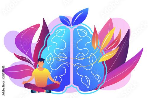 Fotografia User practicing mindfulness meditation in lotus pose