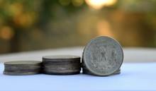 Stacks Of Silver Morgan Dollars