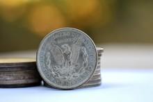 Closeup Of US Morgan Dollar