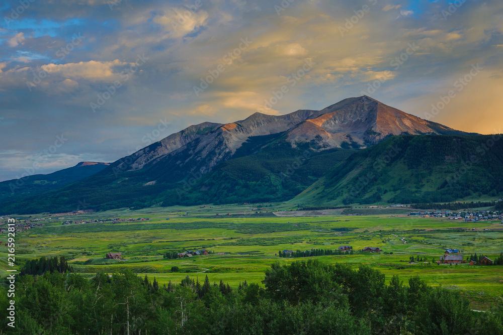 Fototapeta Crested Butte, Colorado Summertime in a Rocky Mountain Ski Town