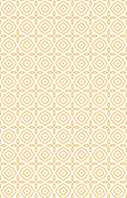 Orange Pattern With Flowers On White Background