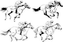Jockey On A Galloping Horse Pa...