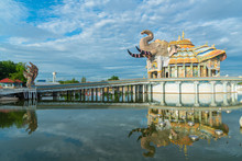 Beautiful Sanctuary With Naga Statue