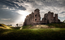 Magical Gorgeous Moody View Of Brough Castle In Cumbria, England UK