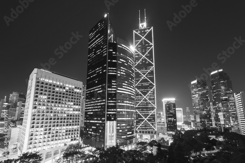 Keuken foto achterwand Aziatische Plekken Skyline of Hong Kong city at night