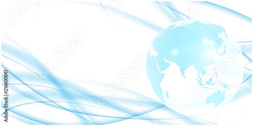 Fotografie, Obraz  地球 波 夏 背景