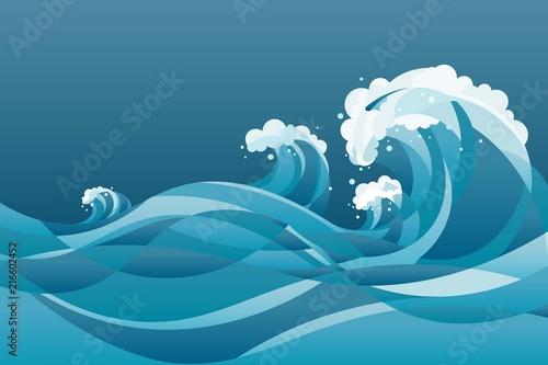 Fotografia high tide sea water waves Background