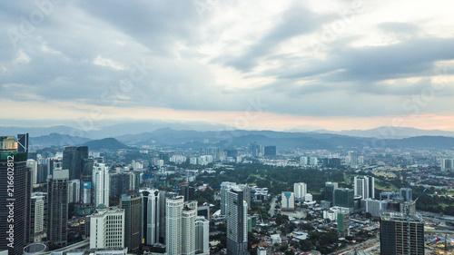 Fototapeta Beautiful aerial view of landscape in Malaysia obraz na płótnie