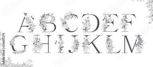 Wedding alphabet Canvas Print