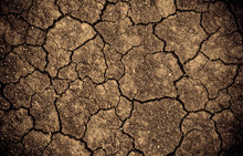 Dried Cracked Earth Soil Ground Texture Background. Global Warming