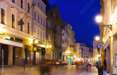 Fotobehang Europa Torun city historical streets and building at evening in Poland