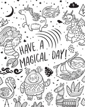Have A Magical Day. Card With ...