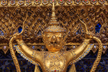 Golden Garuda's In Wat Phra Kaew