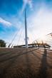 Aachen Tivoli Brücke bei Sonnenuntergang