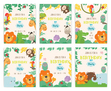 Cute Animal Theme Birthday Par...