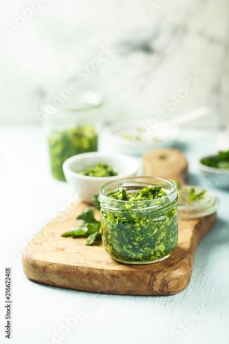 Homemade pesto sauce Fototapeta
